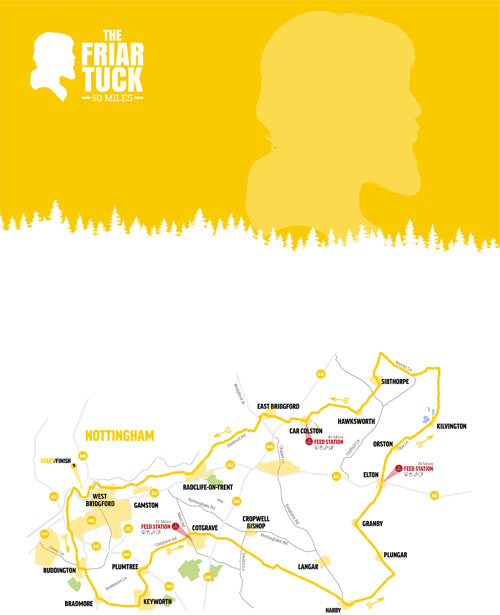 The Friar Tuck Map (50 Mile)