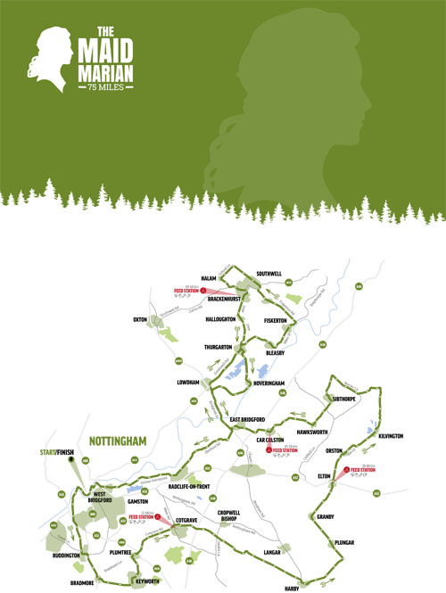 The Maid Marian Map (75 Mile)