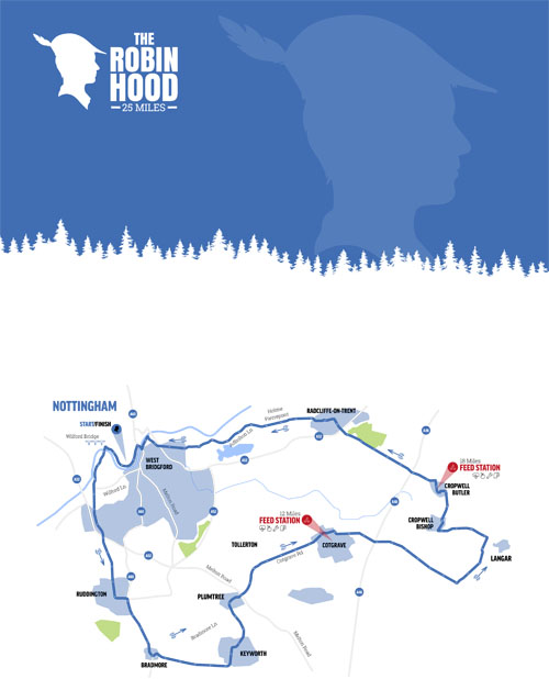 The Robin Hood Map (25 Mile)