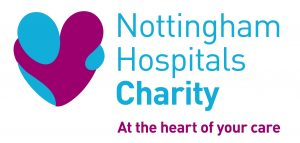 Nottingham Hospitals Charity logo WITH STRAPLINE